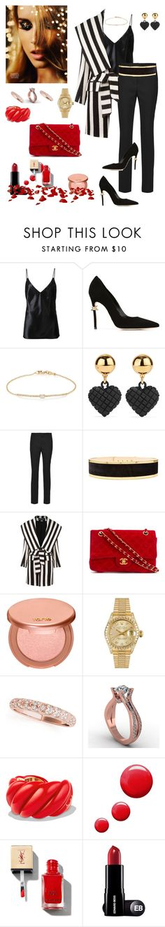 """Untitled #541"" by lianatzelese ❤ liked on Polyvore featuring Christopher Esber, Dsquared2, Tate, Moschino, Joseph, Balmain, Chanel, tarte, Rolex and David Yurman"