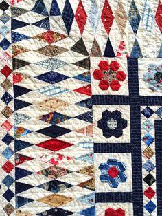 Minick & Simpson - Mrs Billings quilt close-up