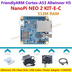 (69.66$)  Watch more here - http://aio9l.worlditems.win/all/product.php?id=32800881923 - FriendlyARM NanoPi NEO 2 Development Board(512MB RAM)+CAM202 Camera+Heatsink+5V/3A Power Adapter+USB Cable=NanoPi NEO 2 KIT-E-C