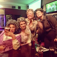 Old Lady Fancy Dress, Couples Fancy Dress, Bachelorette Party Themes, Bachelorette Weekend, Halloween Fancy Dress, Halloween Costumes, Costume Zombie, Hens Party Themes, Old Lady Costume