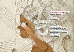 Isidro Ferrer Eduardo Galeano-The dreams of Helena Brand Identity, Branding, Gladiator Sandals, Clothes Hanger, Graphic Design, Editorial, Google, Illustrator, Coat Hanger