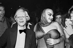 Divine and Andy Warhol in Studio 54