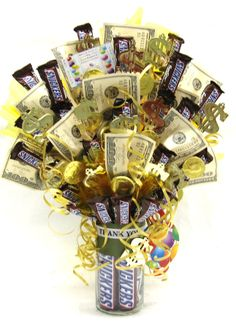 """Thanks A Million"" Candy Bouquet."