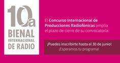 La SEP y el CONACULTA a través de Radio Educación Convocan al Concurso Internacional de Producciones Radiofónicas de la 10ª Bienal Internacional de Radio. Consulta las bases en: http://www.bienalderadio.info/oficial/index.php/concurso/convocatoria