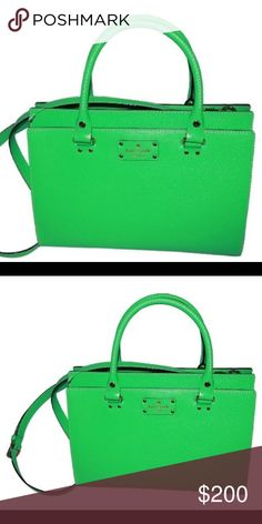 Kate Spade Durham Wellesley Satchel - Bud Green Adorable convertible handbag from Kate Spade New York. Bought it as a birthday gift to myself in 2015 and never used it! Literally NOT ONCE! Will include dust bag and ship same day or day after! Please make offers if interested ☺️ Kate Spade Bags Satchels