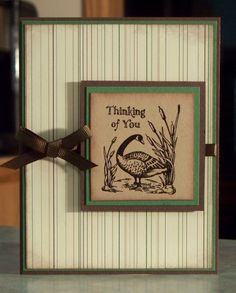 Handmade Greeting Card Stampin Up Thinking of by WhimsyArtCards, $3.50