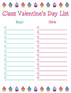 ValentineS Day Class List FreebieEditable In Powerpoint  Top
