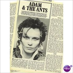 Adam Ant 4 page feature Adam and The Ants clippings