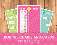 Daily Routine Printable Chart & Cards by LittleGraphics on Etsy