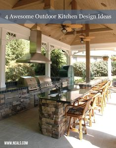 4 Awesome Outdoor Kitchen Design Ideas | Neal's Design Remodel