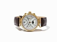 Lucien Rochat Vollkalender Chronograph, Schweiz, um 1980 Lucien Rochat Vollkalender Chronograph, No.