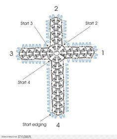 Crochet cross bookmark for Grandma Bakken