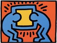 Pop Shop VI by Keith Haring. Pop Shop VI by Keith Haring is a suite of four iconic silkscreen prints on paper created by Keith Haring in Andy Warhol, Claes Oldenburg, Pop Art Artists, Famous Artists, Roy Lichtenstein, Jm Basquiat, Keith Allen, Keith Haring Art, James Rosenquist