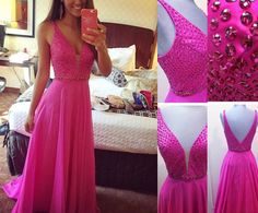 Sexy Beading Real Made Prom Dresses,Long Evening Dresses,Prom Dresses On Sale, D75 - 355