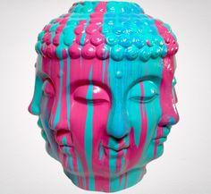 Multi-Colored Buddha Vase « Choose Your Peace