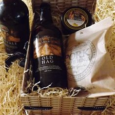 Father's Day Gifts 'Old Hag' Ale & Cheese Gift Box with Pork Scratchings, Choice of Cheese and Beer