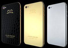 Swiss Company Golden Dreams reveals possibly the most Luxurious iPhone Collection in the world.  Golden Dreams, the Geneva-based luxury design company have unveiled what is being labeled as the world's most luxurious iPhone collection, including a masterpiece studded with over 4'000 Diamonds! Drawing on the traditional excellence of Swiss jewelers and watch-makers, the collection iPhones also includes gold and alligator leather covered models. http://www.luxuriousmagazine.com/?p=13393