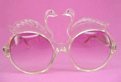 Vintage 70s Swan Sunglasses Eyewear. Reppined by Nouvelle Bag