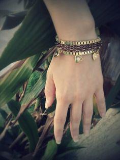 Bracelete Metal Coração/ Cobre Dourado  Vendas: whatsapp: 317300-4489 http://instagram.com/petalasdemaria
