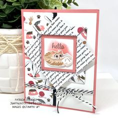 Playful Pets – Cats & Dogs – Jumping into Stamping Dog Cards, Kids Cards, Fancy Fold Cards, Folded Cards, Poinsettia Cards, Animal Cards, Card Sketches, Cute Cards, Homemade Cards