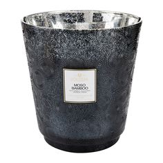 LOOVE THIS! EXTRA LARGE VOLUSPA CANDLE 3.5KG!  Voluspa - Japonica Hearth Candle - 3.5kg - Moso Bamboo  #candles #scentsy Moso Bamboo, Large Candles, Glass Holders, Open Spaces, Black Glass, Scentsy, Scented Candles, Woody, Hearth