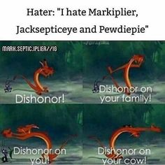 How can you hate my loud Irish poato! He's so sweet. And how could you resist Mark's deep soothing voice! Or how can you not laugh at Felixe's weird humor! Pewdiepie, Markiplier Fnaf, Dankest Memes, Funny Memes, Hilarious, It's Funny, Youtube Memes, Septiplier, Pokemon