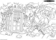 Free Printable Doctor Who Coloring Page