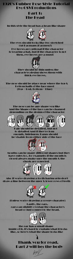 1920's Rubber Hose Tutorial Part 1: The Head. by GSVProductions
