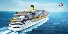Due to be christened in Genoa, Italy on November the Costa Diadema will carry some works of art, reproductions and silkscreen prints. Costa, Villas, Valencia, Travel Around The World, Around The Worlds, Last Minute Travel Deals, Rome Tours, Lds Temples, Discount Travel