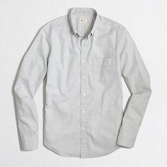 Factory slim sunwashed oxford shirt