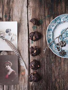 Carob Cookies | Photography and Styling by Sanda Vuckovic Pagaimo.