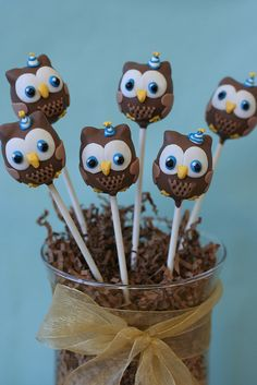 Party Owls Cake Pops by Sweet Lauren Cakes, via Flickr