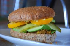 healthy way to eat a homemade veggie burger :)