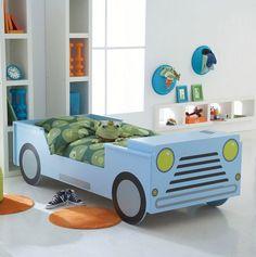 Habitaciones infantiles para fanáticos de los coches
