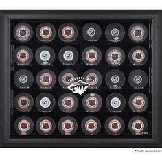 Mounted Memories 30 Hockey Puck Logo Display Case NHL Team: San Jose Sharks, Color: Mahogany