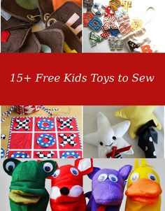 FREE PATTERN ALERT: 15+ Free Kids Sewing Projects. Learn how to make some beautiful and learning-fun projects for kids. Link here!