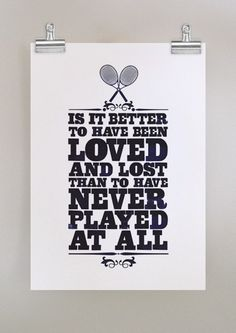 Love tennis! Lol
