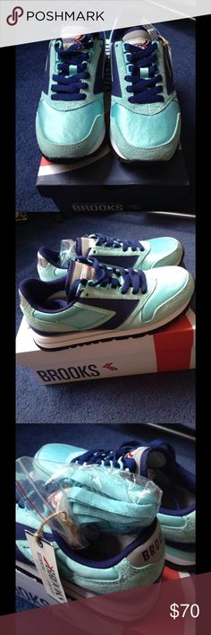 Brooks Retro Sneakers Genuine Suede. New in Box. These are not running shoes, just fashionable vintage sneakers Brooks Shoes Sneakers