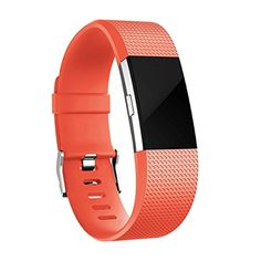 LoveBlue For Fitbit Charge 2 Band,Sports Silicone Bracelet Strap Replacement Band for Fitbit Charge 2 Watch Fitness Tracker (Silicone Orange) -- Awesome products selected by Anna Churchill