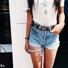casual date outfit Fashion Killa, Look Fashion, Fashion Outfits, Womens Fashion, Net Fashion, Denim Fashion, Fashion Trends, Only Shorts, Shorts Jeans