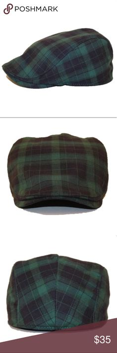 cfd841adde01c NWOT Plaid Scally Cap by Boston Scally Co. Clover and navy. From the  amazing Boston Scally Co. Boston Scally Co.
