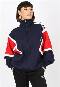 Casual School Outfits, Swag Outfits, Outfits For Teens, Fashion Outfits, Adidas Vintage Jacket, Vintage Adidas, Vintage Jackets Mens, Vintage Outfits, Retro Outfits