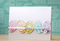 Joyous Easter Card by Laura Bassen for Papertrey Ink (February 2015)