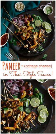 """Thai style paneer is an intriguing dish that takes a healthier and more flavorful twist to everyone's favorite good old """"paneer chilli"""". Swap with tofu for a vegan option!"""