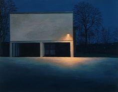 Beautifully Mundane: Giorgio Morandi and now George Shaw Urban Landscape, Landscape Art, Landscape Paintings, Landscapes, Nocturne, Moonlight Painting, Chiaroscuro, City Art, Urban Art