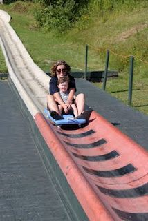 Alpine Slide Stowe, VT Such a fun summer activity, must do this if you visit Stowe
