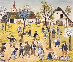 josef-lada-na-jare Jig Saw, April Easter, Grandma Moses, Quentin Blake, Henri Rousseau, Naive Art, Outsider Art, Typography Prints, Jaba