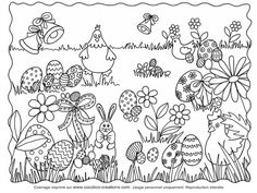 Home Decorating Style 2020 for Coloriage Paques Maternelle A Imprimer, you can see Coloriage Paques Maternelle A Imprimer and more pictures for Home Interior Designing 2020 at Coloriage Kids. Garden Coloring Pages, Colouring Pages, Adult Coloring Pages, Coloring Books, Easter Coloring Sheets, Easter Colouring, Easter Art, Easter Crafts, Easter Eggs