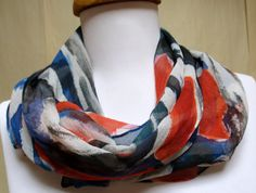 Silk scarf handpainted Chiffon Made in the by SilkworthSilkScarves