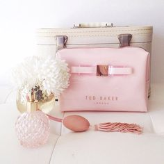 Ted Baker Cosmetic Bag in pink & rose gold